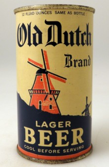 Old Dutch Brand Lager Beer Can