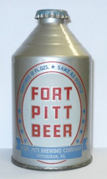 Fort Pitt Beer Crowntainer Beer Can